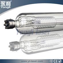 High Power!yongli laser tube better than reci laser tube 80w glass co2 laser tube