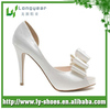 Peep Toe Big Bow High Quality Bridal Wedding Shoes