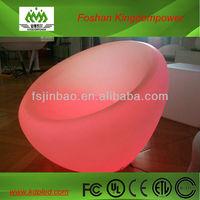 Universal living room furniture for decoration & lighting led plastic made sofa
