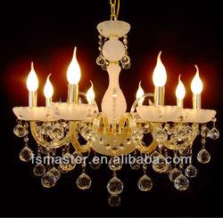 luxury heads pendant light/luxury chandelier for wedding Elegant Crystal Chandelier with 8 Lights for hotel lobby/villa/hall