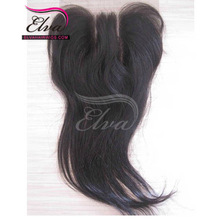 Cheap Peruvian hair bleached knots 3 part lace closure