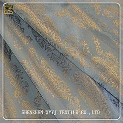 Two-tone polyester viscose logo jacquard lining