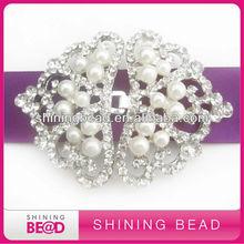 pearl rhinestone connector for silk wedding invitation