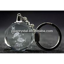 3d Laser Engraved Crystal Globle Key Chain