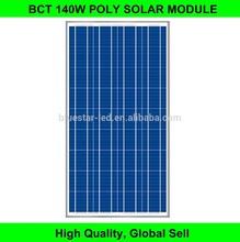 High efficiency poly solar module 140 watt solar panel