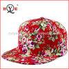 Floral fabric girls new fashion custom design plain snapback hat no logo