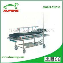 Hotsale S.S Two manual crank Emergency Patient trolley/ stretcher