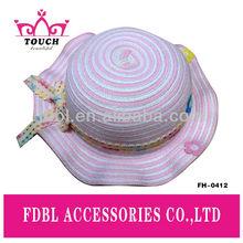 FH - 0412Fashion kids simple design cotton & pp floppy hat