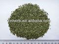 Getrocknet stevia und natürliche blatt-tee beutel schneiden