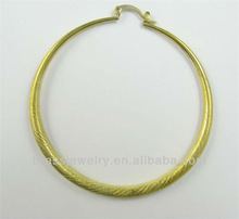 Classic Round Brass Fashion Big Hoop Earrings Without Plating