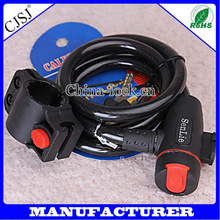 Hot Sale Fashion And Trendy Folding Bicycle Locks Bike Ring Lock Motorbike Cable Lock
