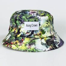 cotton floral fashion custom bucket hat