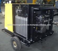 Petrol driven Wheel cart mounted Screw Air Compressors