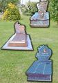 tomba di granito funerale domestico cimitero lapide