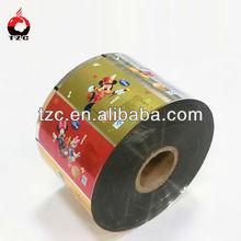 Plastic custom print flexible plastic food packaging equipment