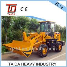TAIDA cheap and big power 1.2 ton wheel loader exported to RU