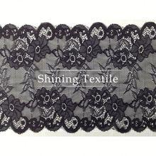 Latest Nylon Spandex Stretch Rose Lace Trim For Lingerie