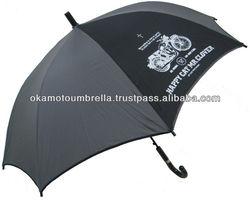 motor cycle umbrella printed bike and cross,clover