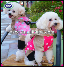 New arrival lovely rose red white dot bear style dog clothes made in China