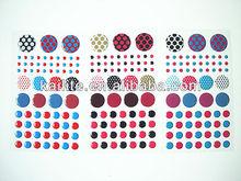 Variety Color Dot Epoxy Sticker
