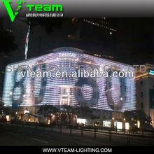 Outdoor Flexible soft led mesh pixel screen as building facade /xxx image/china xxx