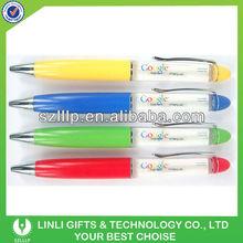Light Liquid Plastic Pen For Giveaways Gift