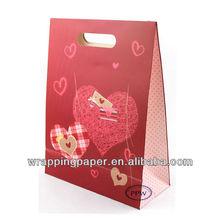 Valentine paper gift bag wholesale