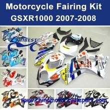 fair factory For SUZUKI GSXR1000 2007-2008 WHITE&BLUE 2 FFKSU010