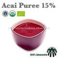 Açaí orgânico purê de 15%- acidificados