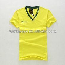 2013 fashion korean style v-neck t-shirt,t shirts manufacturers china