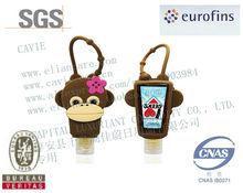 29ml BBW Antiseptic Instant Hand Sanitizer wash gel with monkey Silicon Holder