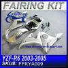 ABS fairing kit For YAMAHA R6 2003-2005 SILVER