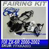 For kawasaki ZX 6R 2000 2002 Motorcycle Fairings WEST FFKKA003