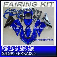 For kawasaki ZX 6R 2005 2006 Motorcycle Fairing Kit BLUE&BLACK FFKKA005