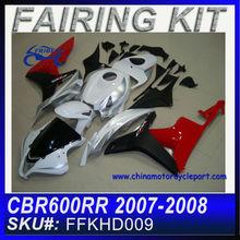 Fairing Motorcycle For HONDA CBR600RR 2007-2008 WHITE&BLACK&RED FFKHD009
