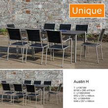 Modern Austin H stainless-steel rattan furniture
