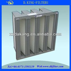 Supply aluminum frame mini pleat hepa filters