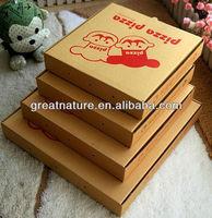 Custom print paper pizza packaging box