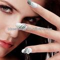pre elegante design de natal decoração de unhas de acrílico