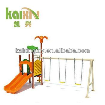 Outdoor Children Plastic Garden Swings Seat With Steel Stand