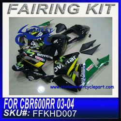 Fairing kit For HONDA CBR600RR 03-04 BLACK MOVISTAR