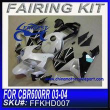 For HONDA CBR600RR Motorcycle Fairings cheap 2003 2004 WHITE&BALCK