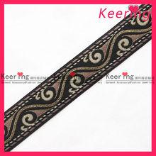 Vintage border sari Embroidery trims lace ribbon Flower Design purple base WTP-953