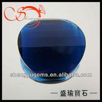 round blue decorative glass gems GLSP-28-KB151