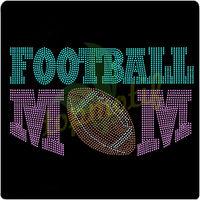 Domestud Transfers Football Mom Rhinestone Stud Transfer Hot Fix Motif For Sport Team