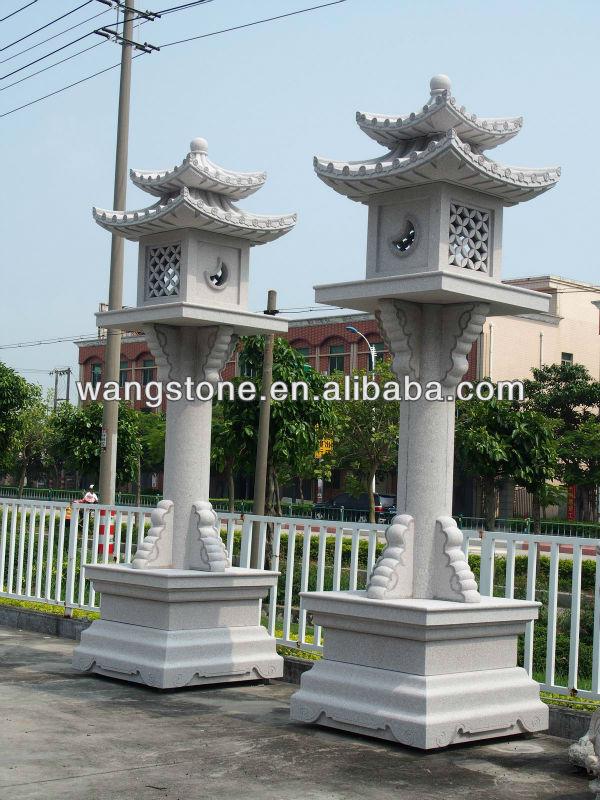 Jardin Granit Japonais Lanterne De Pierre Sculpture