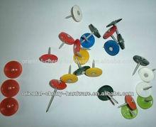 plastic round cap nails/nail factory