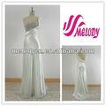 beyaz ve çıplak taklit ipek streç saten şık bir omuz abiye kokteyl elbisesi moda uzun gümüş payet elbise