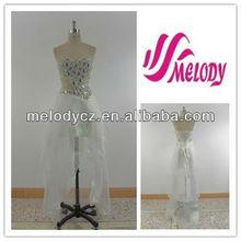 Off white satin& organza querido oco cintura embroideried vestido de noite vestido de cocktail tule moda vestido curto