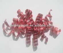 HOT SALE ! Red Metallic Nylon Mesh Woven Fabric Ribbon Christmas Curling Gift Bow